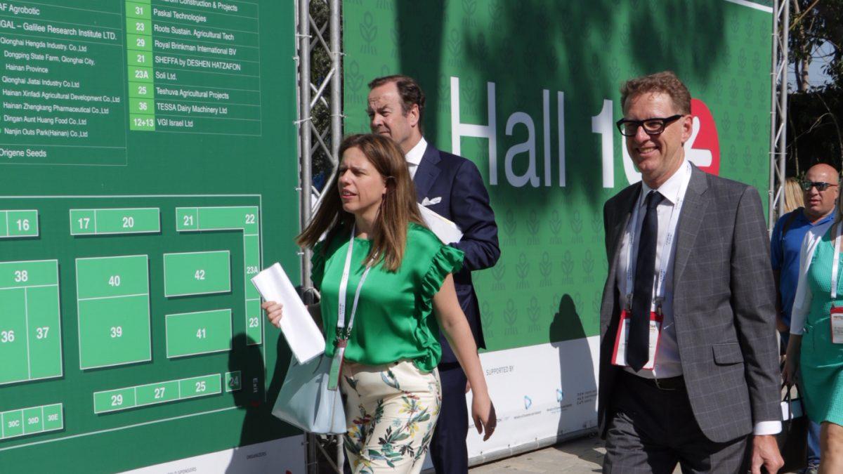 Dutch minister Carola Schouten at Agritech Israel 2018